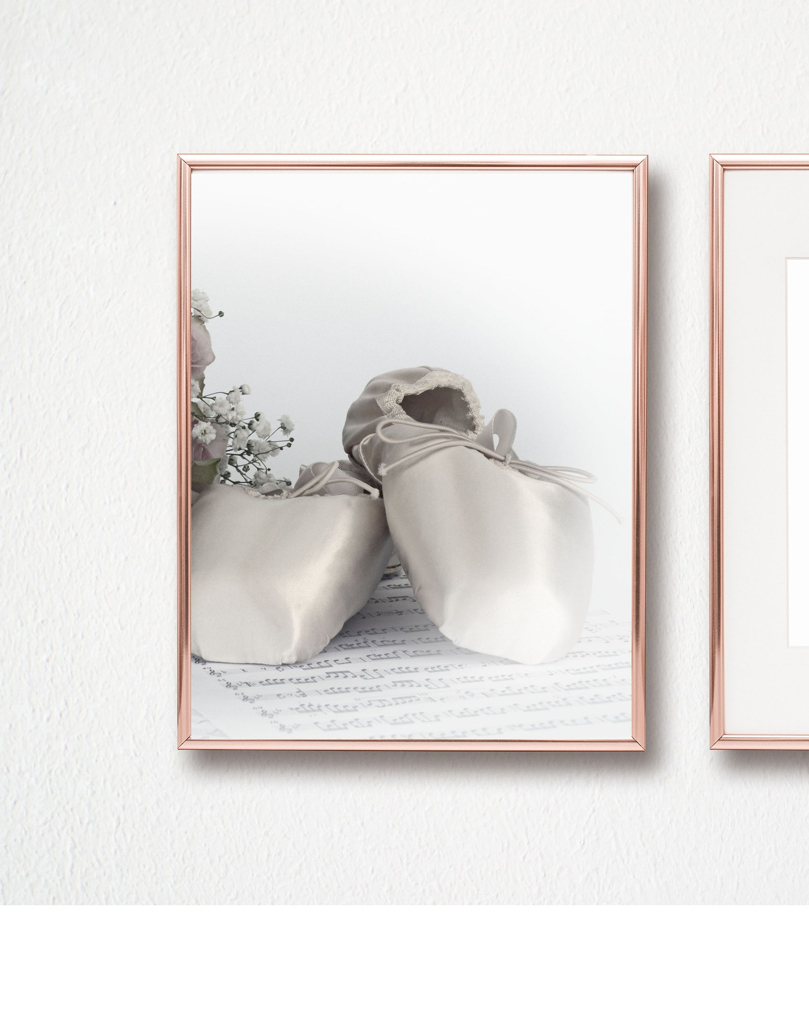 ballerina shoes 8x10 set of two wall art/instant download/black white wall art/printable wall art/ballet photography/ballet shoe