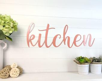 Metal kitchen wall decor | Etsy