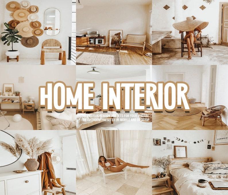 10 Premium Home Lightroom Presets/ Golden White Presets/ image 0