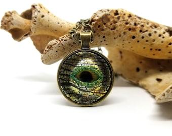 Hand Sculpted OOAK Dragon Eye Pendant