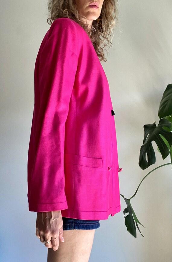 Vintage LOUIS FERAUD Blazer, 1980s Pink Power Bla… - image 9