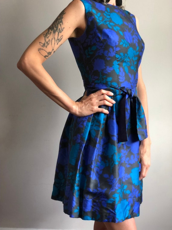 60s House of Nu Mode Floral Cocktail Party Dress