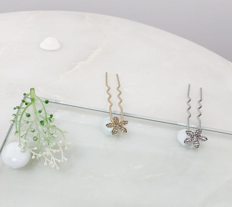Hair Pin Hair Jewelry Women Hair Stick Crystal Hair Pin Starfish Hair Pin Silver Hair Accessory Wedding Bridal Prom Hair Jewelry