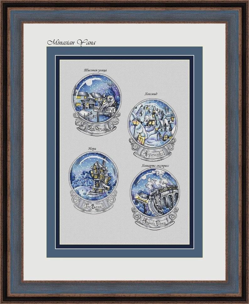 Magical balls set1 Fandom cross stitch pattern Winter image 0
