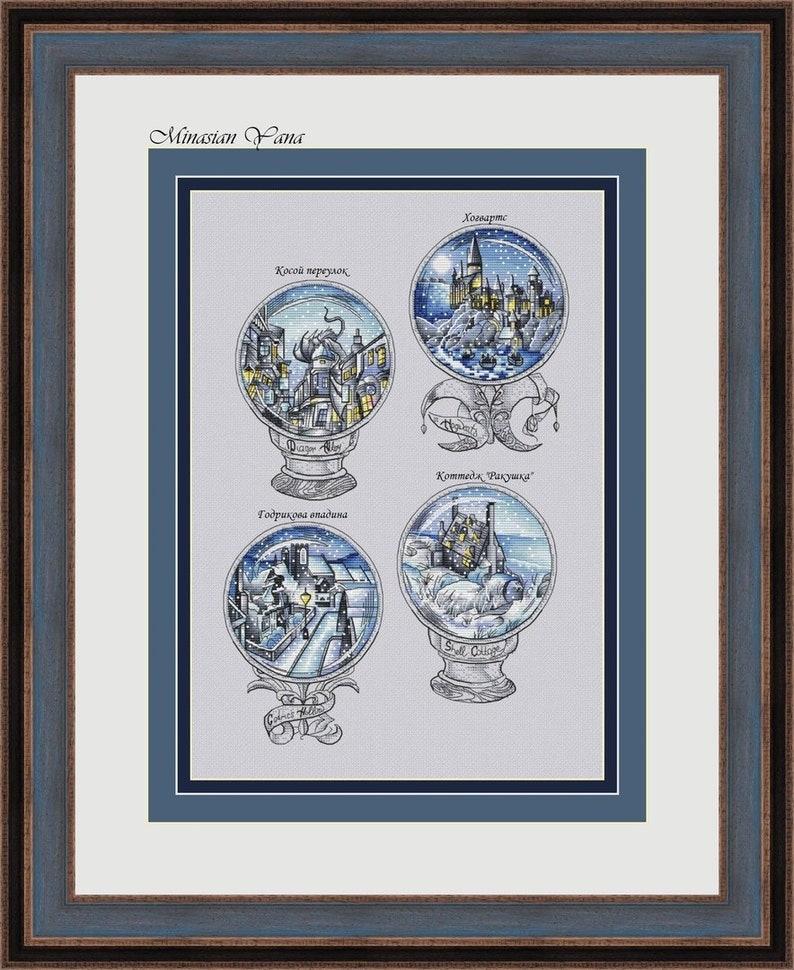 Magical balls set 2 Fandom cross stitch pattern School of image 0