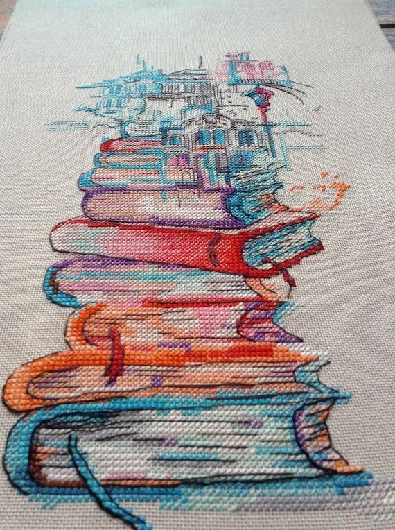 Venice gondola silhouette Watercolor cross stitch pattern Modern home wall cross stitch decor Hand embroidery design Digital pdf file
