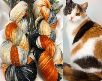 PRE ORDER - Calico Kitty - Hand Dyed Yarn