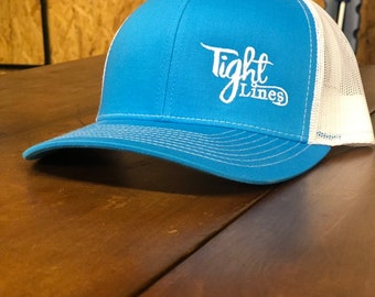 Tight Lines Blue White Richardson 112 snapback hat 5a7a1e0e804d