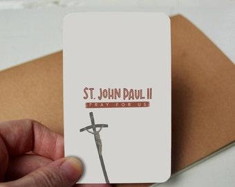 St. John Paul II Prayer Card - Pope John Paul II - Holy Card - Catholic Saint - Catholic - Prayer Card - Catholic Prayer - Catholic Devotion