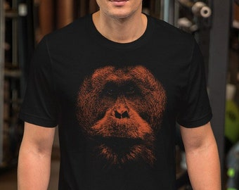 cd8d99bd7 Monkey orangutan animal halftone Ape tshirt Unisex Graphic unique T-Shirt