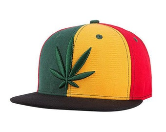 2f91ef4f072 Jamaican Rasta Weed Snap Back Hat