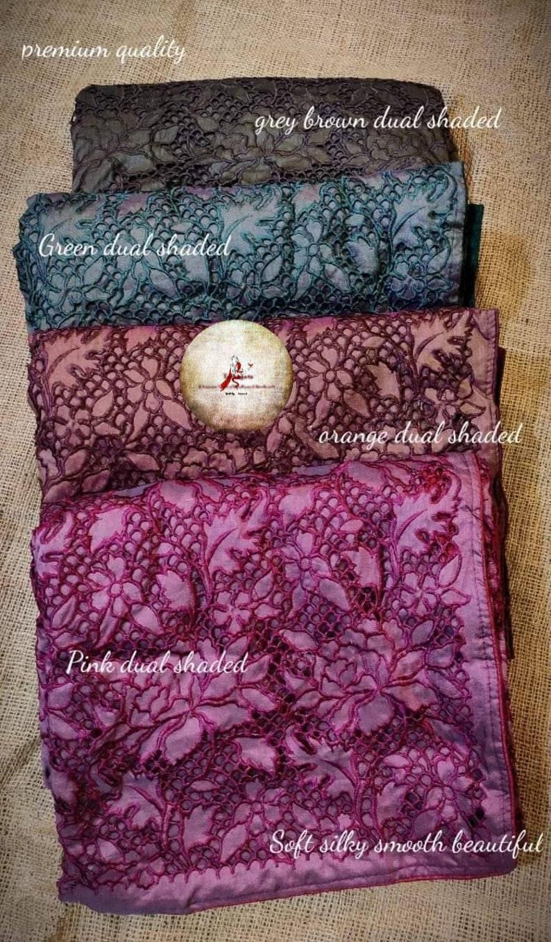 Pure handloom tussar silk cut work  sari with silk tag and blouse piece