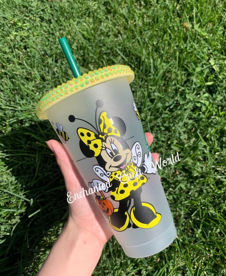 Halloween Starbucks bees Disney Halloween Starbucks Tumbler Minnie Mouse costume- Bubblebee Minnie