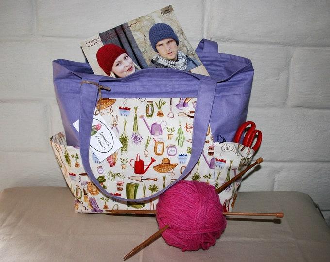 Homegrown Cotton Tote Bag, Shoulder Bag, Eco Friendly Bag, Shopping Bag, Weekend Bag, Plastic-Free Bag