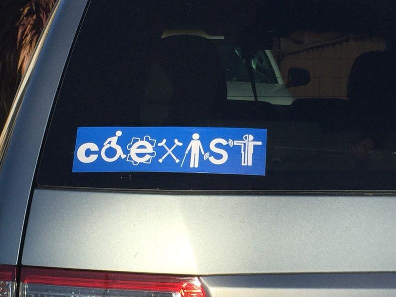 Coexist Bumper Sticker  Disability Awareness image 0
