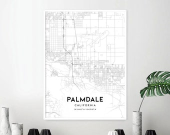 Palmdale map | Etsy
