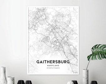 Gaithersburg Map Etsy