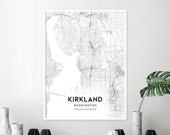 Kirkland wa map   Etsy on map of ontario kirkland, map of western washington kirkland, map of medina wa,