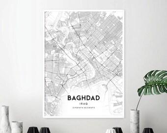 Baghdad map   Etsy