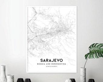 Sarajevo map | Etsy on istanbul map, gibraltar on map, budapest map, bosnia map, belgrade map, vienna map, bosnia and herzegovina, dublin map, serbia map, kosovo map, constantinople map, zagreb map, croatia map, balkans map, minsk map, gavrilo princip, siege of sarajevo, kiev map, yugoslavia map, skopje map, the hague map, tirana map, riga map, bosnian war,