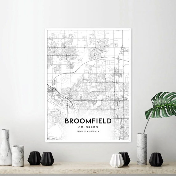 Broomfield Map Print, Broomfield Map Poster Wall Art, Co United States City  Map, Colorado Print Street Map Decor, Road Map Gift, A1154v4