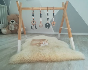 Wooden Baby Gym Etsy