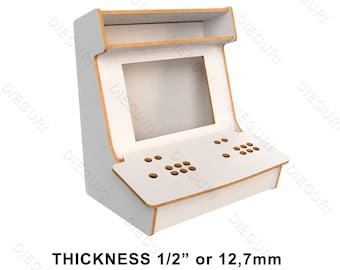 "Arcade Bartop Machine Evo Cabinet, 1/2"", cnc router, dxf plans"
