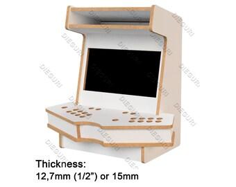 "Arcade Bartop ""Minimal"" Cabinet Fliperama + table, cnc router, dxf plans"
