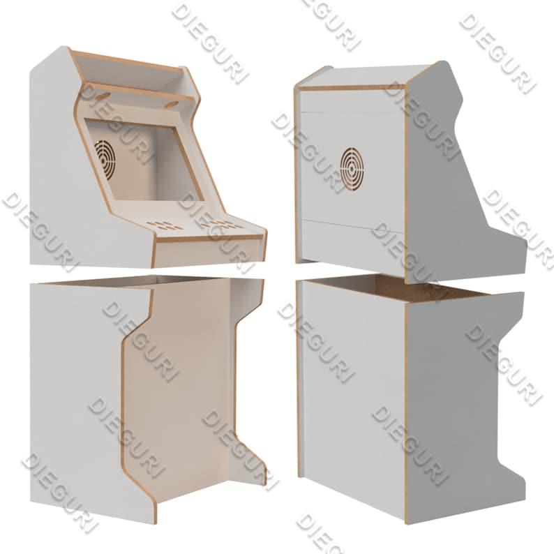 Arcade Bartop Machine Cabinet cnc router dxf plans | Etsy