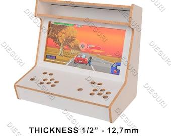 "Arcade Bartop Fliperama Cabinet - DXF for CNC Router - 1/2"" 12,7mm"