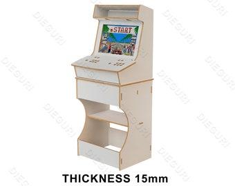 Arcade Bartop Machine Evo Cabinet + table, cnc router, dxf plans