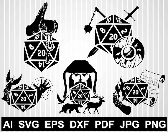 D20 Svg Cuts File For Cricut Rpg Vector Design Geek Svg Free Etsy