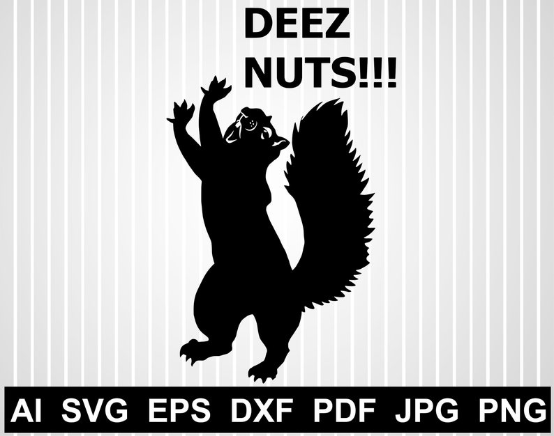 Download Deez nuts svg cuts file for cricut Squirrel silhouette ...