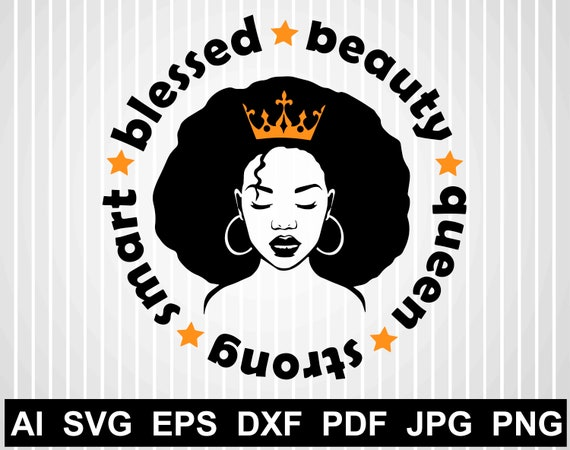 Black Girl Svg File For Cricut Black Woman Silhouette African Etsy