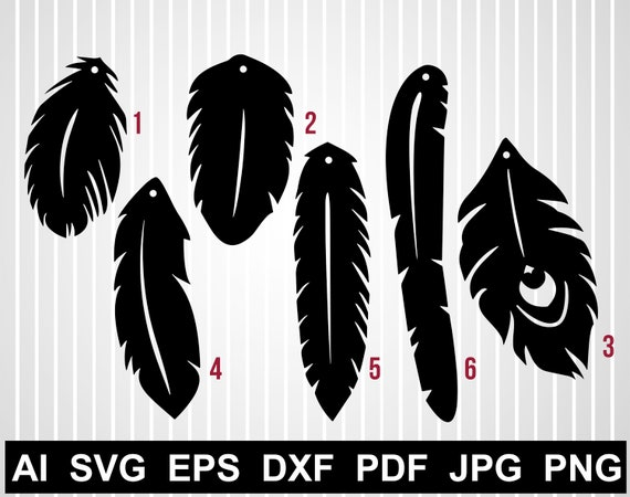 Feather Earring Svg Cuts File Faux Leather Earring Template Etsy