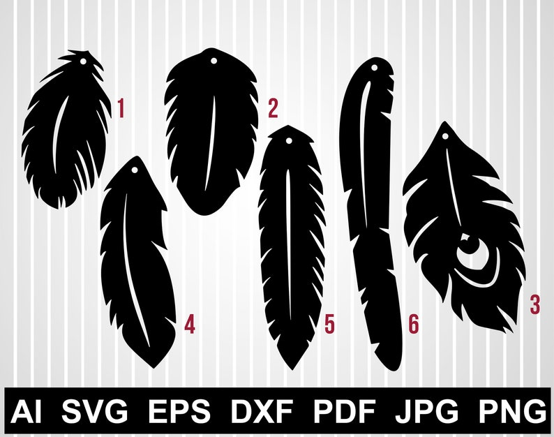 Download Feather earring svg cuts file Faux leather earring ...