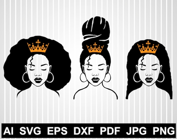Black Girl Svg Afro Woman Magic Svg African American Queen Svg Etsy