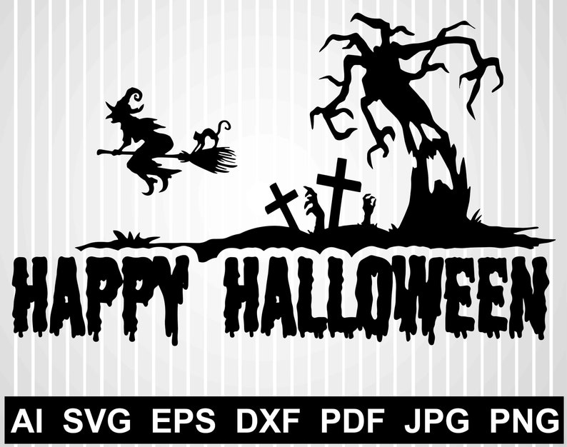 Happy Halloween Svg Cuts Files For Cricut Haunted House Svg Etsy