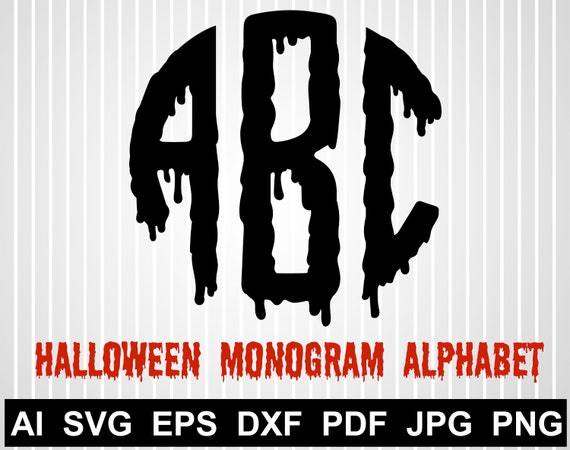 Halloween Monogram Alphabet Svg Free Happy Halloween Svg Files Etsy