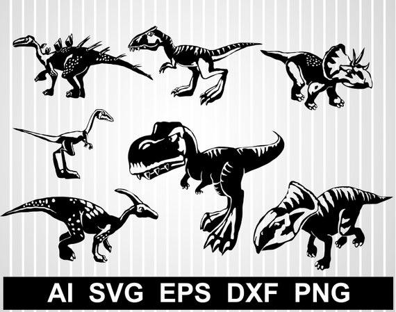 Dinosaur Svg Files For Cricut T Rex Svg Free Dinosaur Clipart Etsy