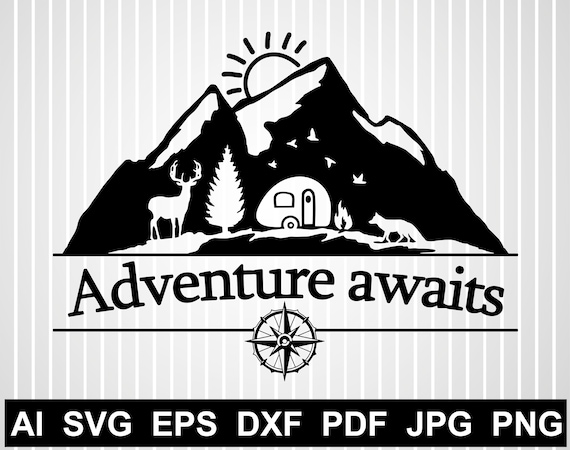 30+ Boho Adventure Awaits / Svg Png Jpeg Dxf Image