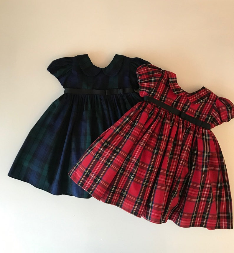 First Christmas Dress Baby Girl xmas dress Xmas Dress Girls Christmas Dress Baby Christmas Dress Tartan Baby Dress Girls Tartan Dress