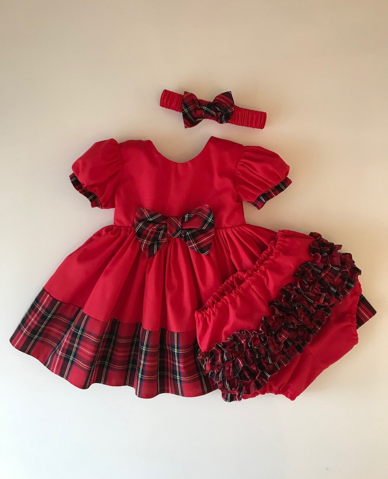 Party Dress Girls Christmas Dress Baby Christmas Dress Xmas Dress Red Baby Dress Newborn dress Girls Red Dress First Christmas Dress