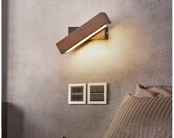 Modern Creative Wooden Rotating Wall Lamp | Dining Room Lamp || Wall Lamp | Wall  Lights | Living Room/Restaurant/Bar Lamps