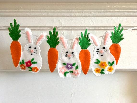1 or 5 Felt Fairtrade Carrot Easter Tree Decorations Fun