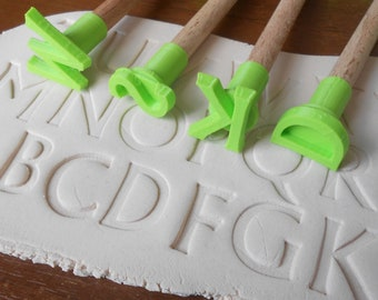Clay Stamps Alphabet Etsy