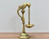 Diya, Deepak, Lamp, 6.5 Brass Parrot Design Oil Lamp, Festive Diya, Puja Lamp, Diya for Diwali, Diya with Parrot, Oil Diya, long stand Diya