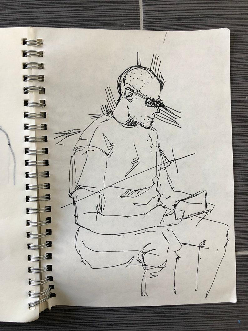 Abstract sketch man etsy