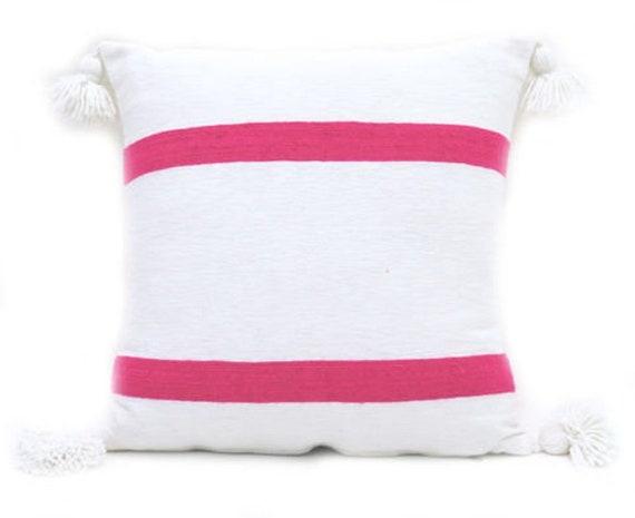 White Pom Pom Pillow Cover Large Poms 7