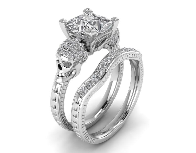 14k Yellow Gold Finish 2.50 Ct Round Cut Diamond Bypass Halo Engagement Ring